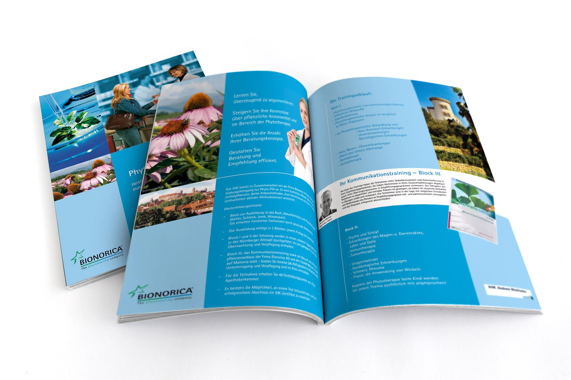 Design und Erstellung von Phyto PTA Seminarflyern