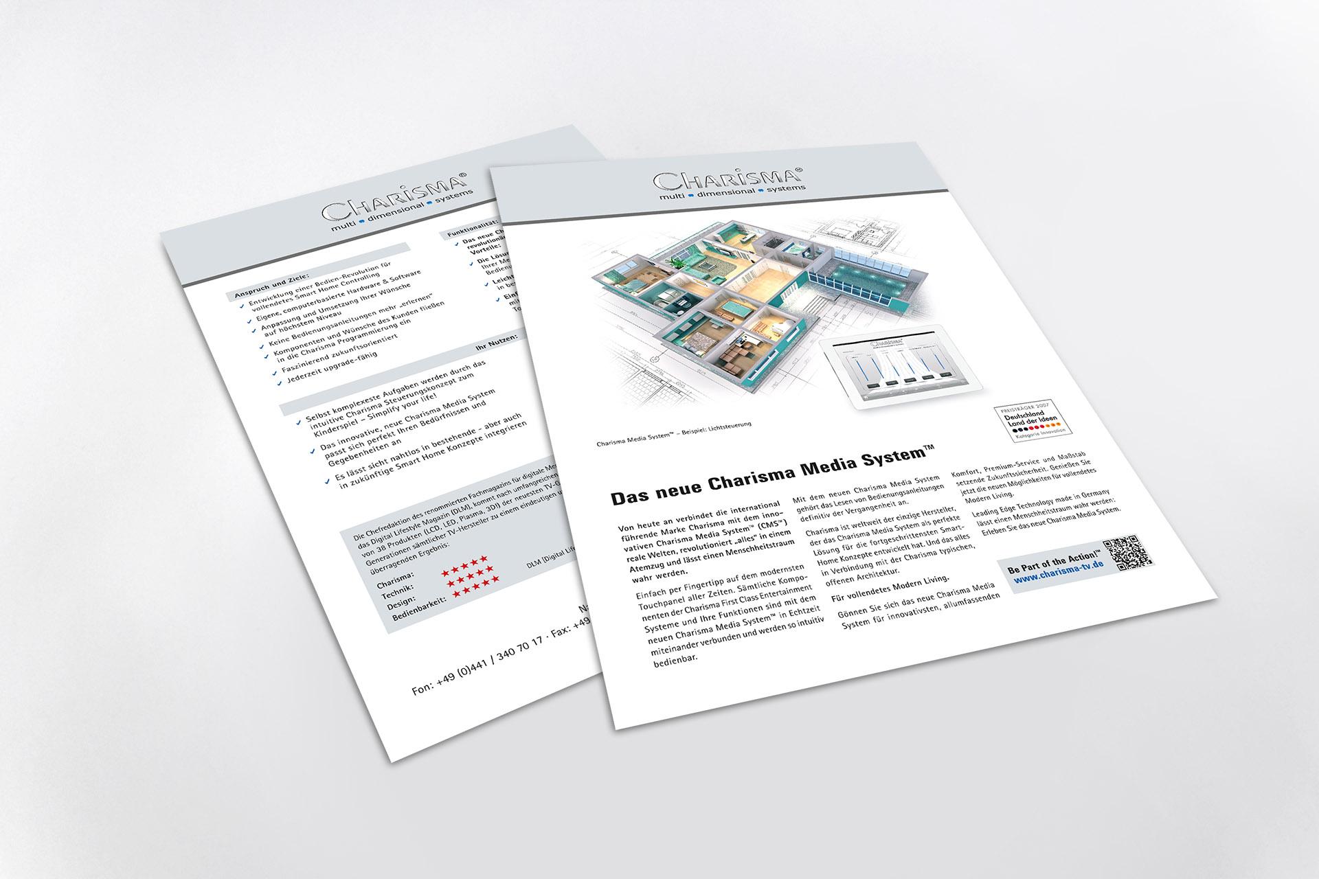 Produkt Infoblatt Media System