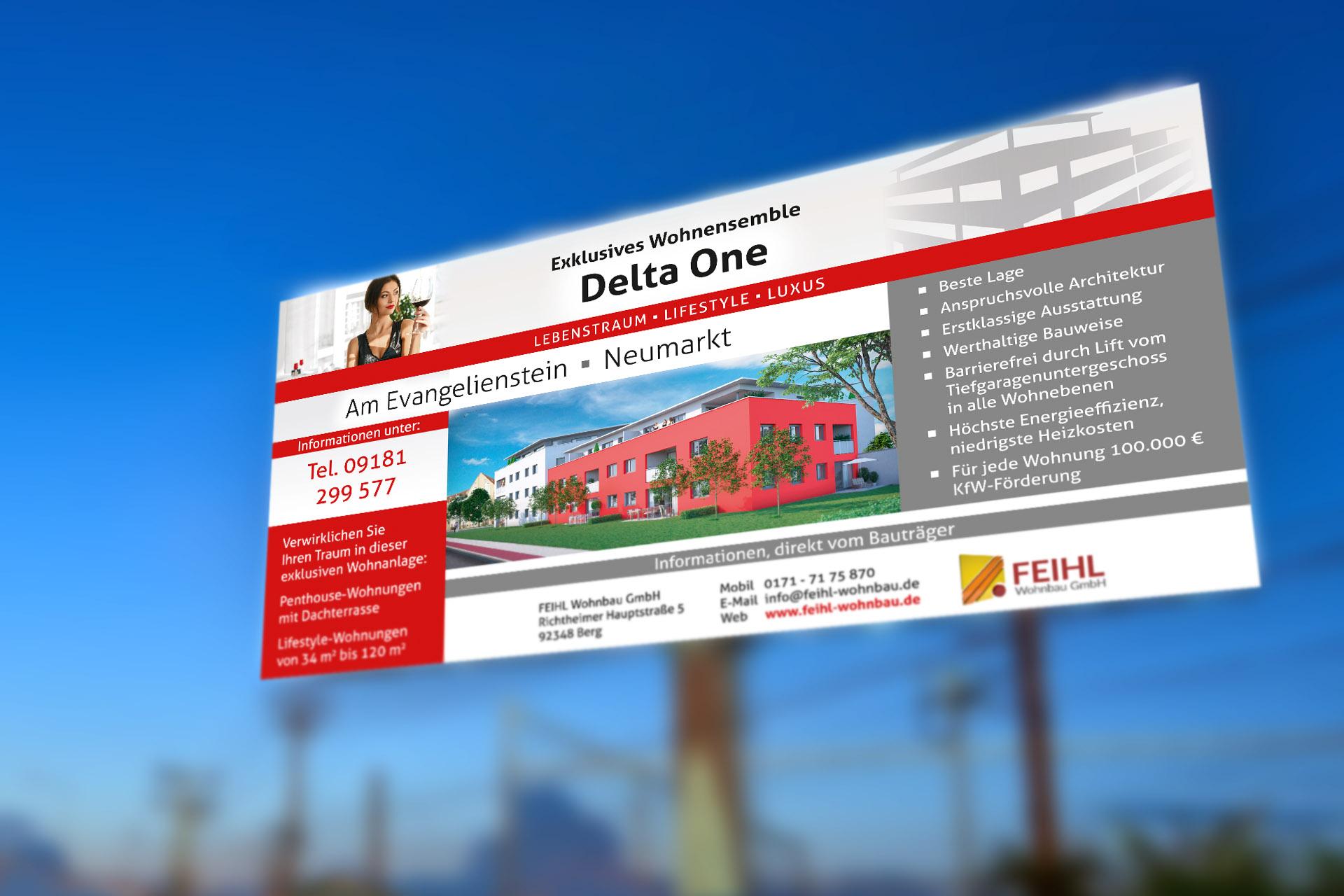 Erstellen der Delta One Baubanner