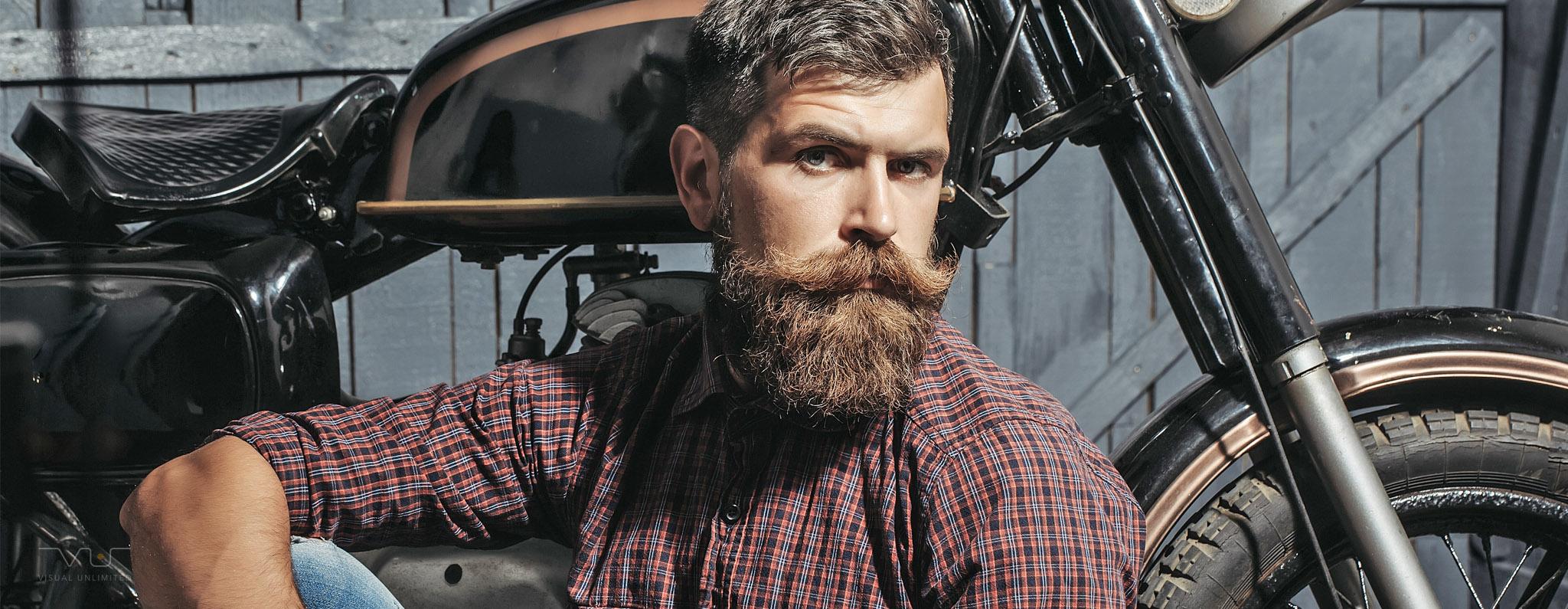 Bilder VU Header Photography 04 Motorrad - Bearded Biker