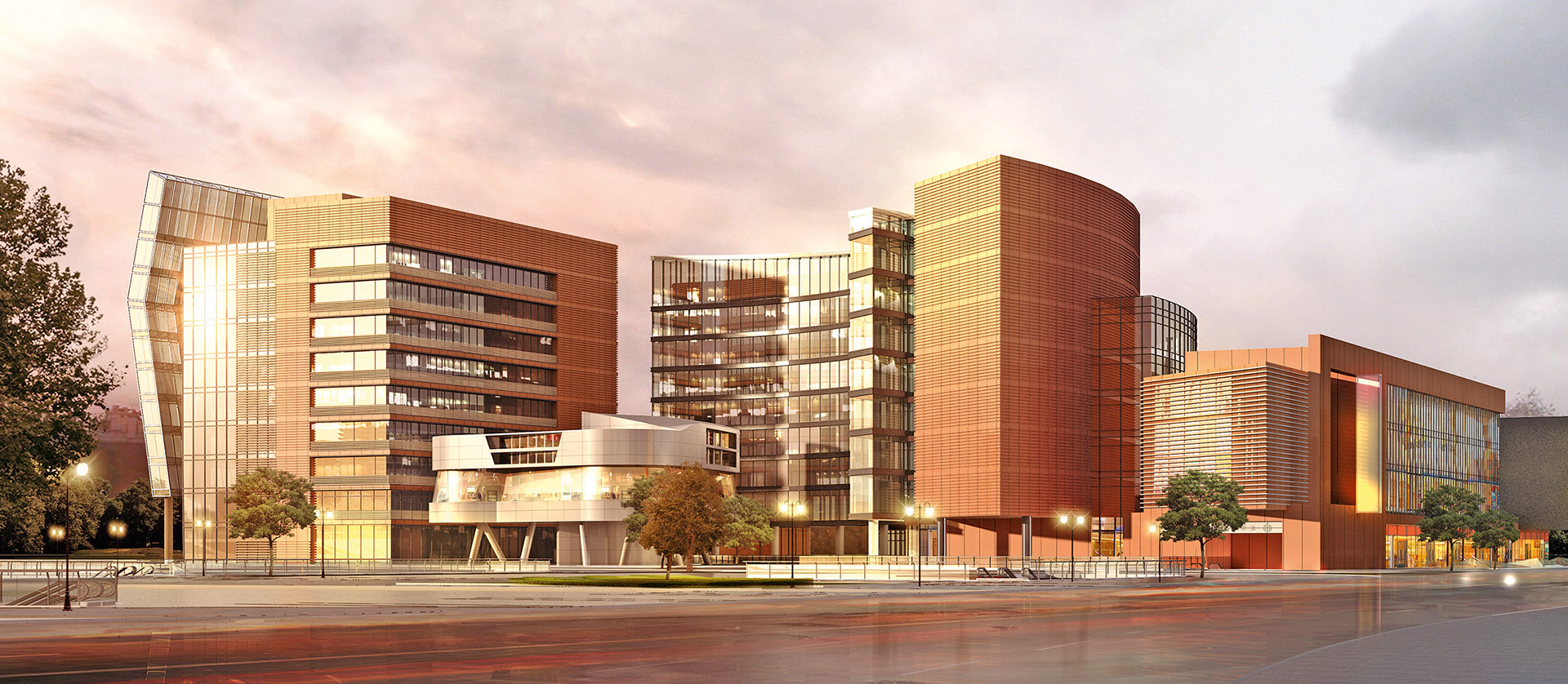 Visualisierung Gebäude und Straße