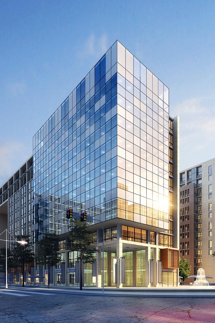 Visualisierung Geschäftsgebäude