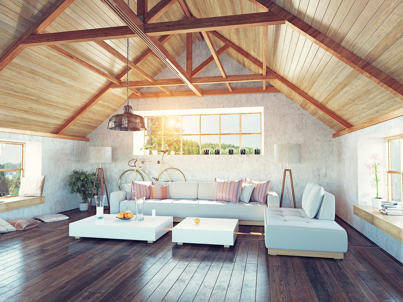 Visualisierung Interieur Dachbodenausbau