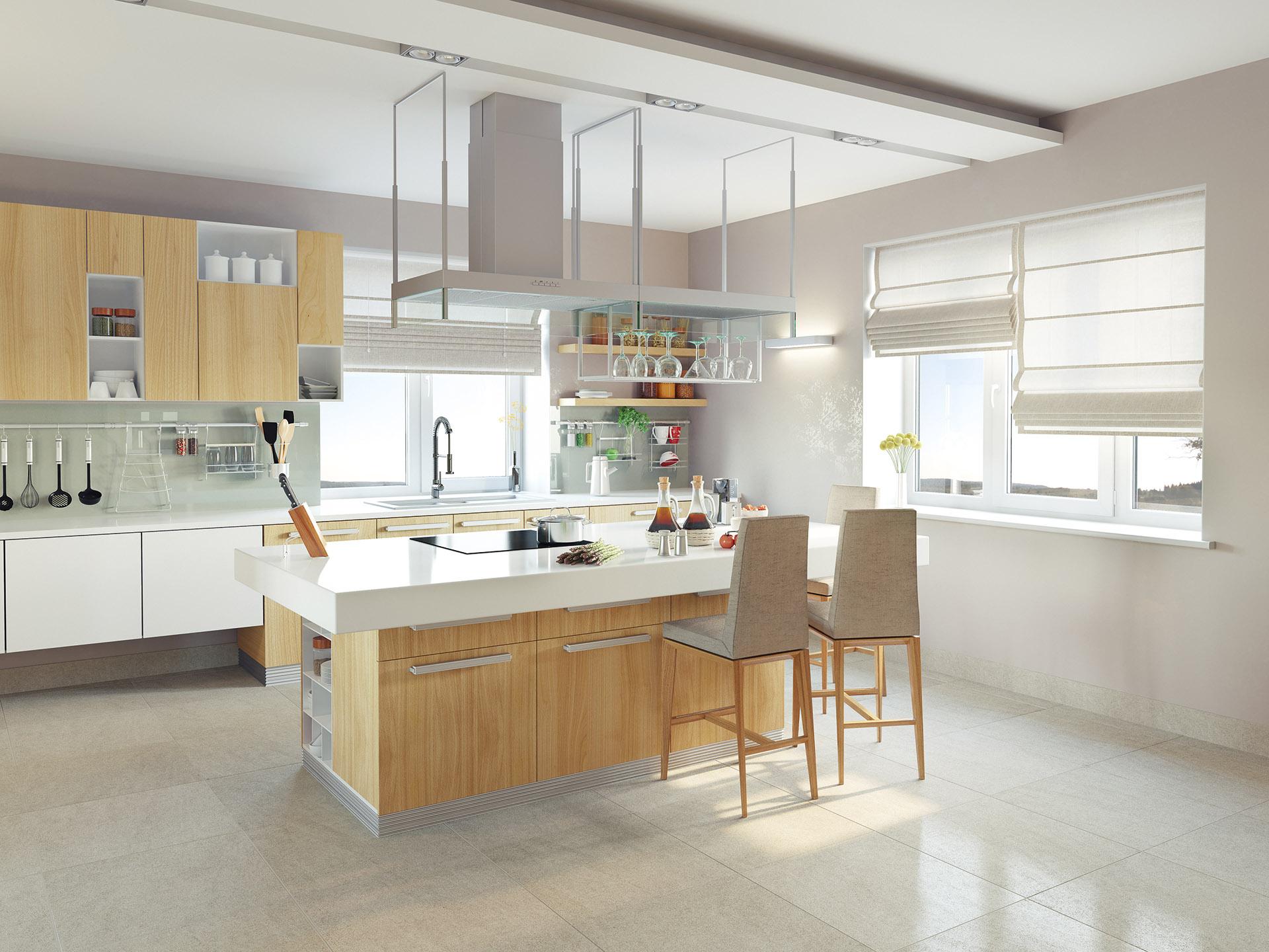 Visualisierung Interieur Moderne Küche
