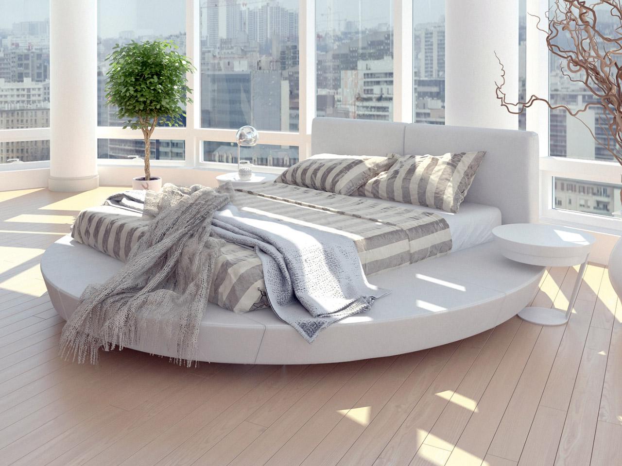 Visualisierung Interieur modernes Schlafzimmer