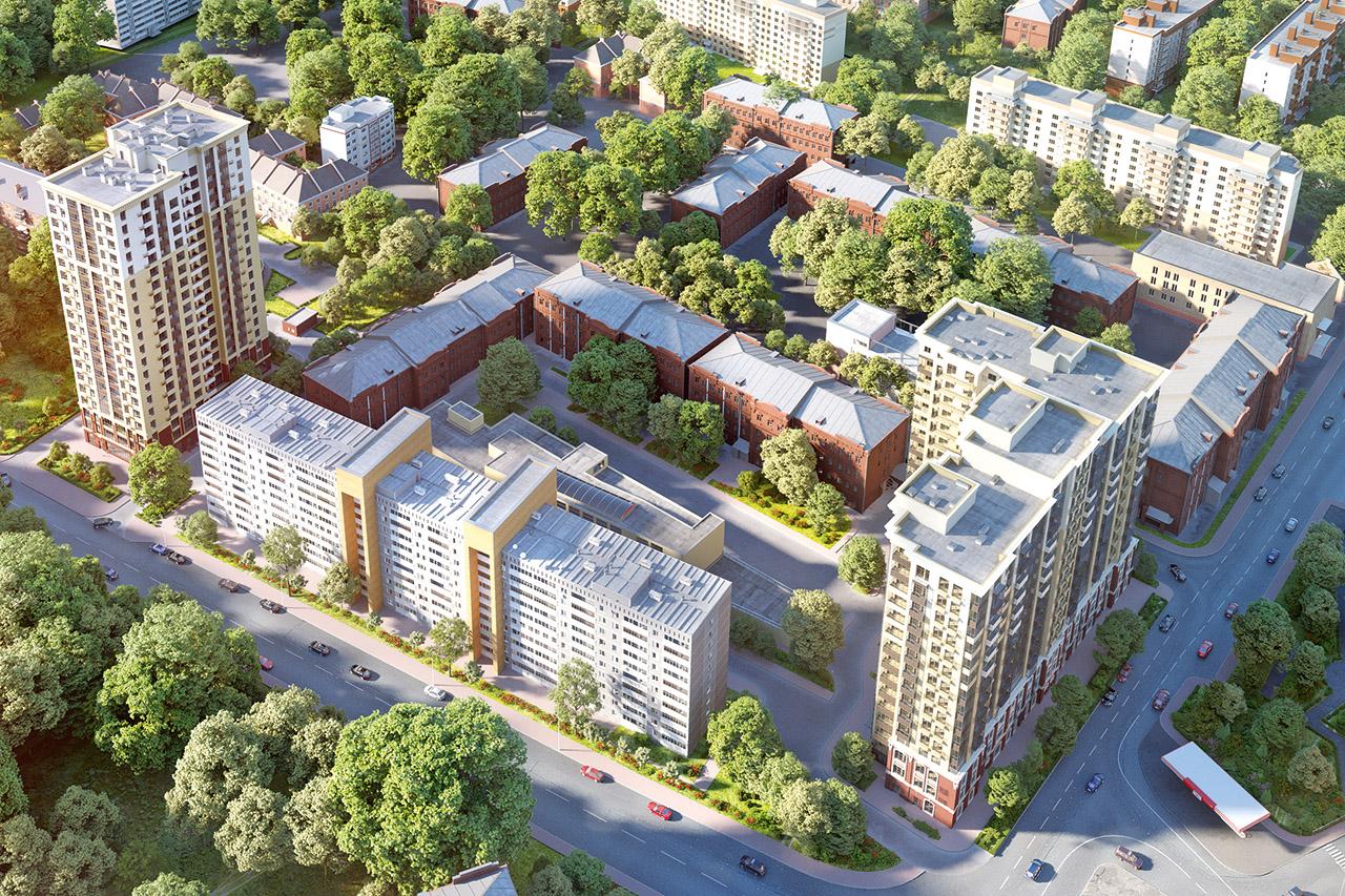 Visualisierung urbane Wohnhochhäuser