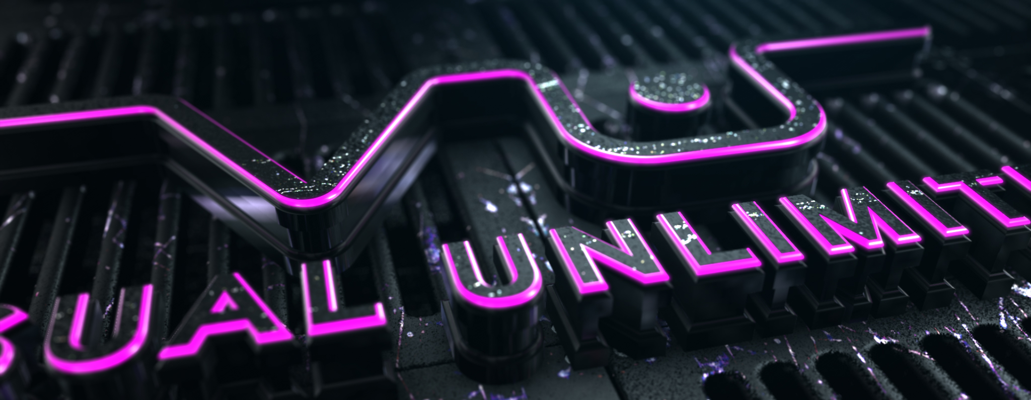 Visual Unlimited - NEON Logo Experiencen pink