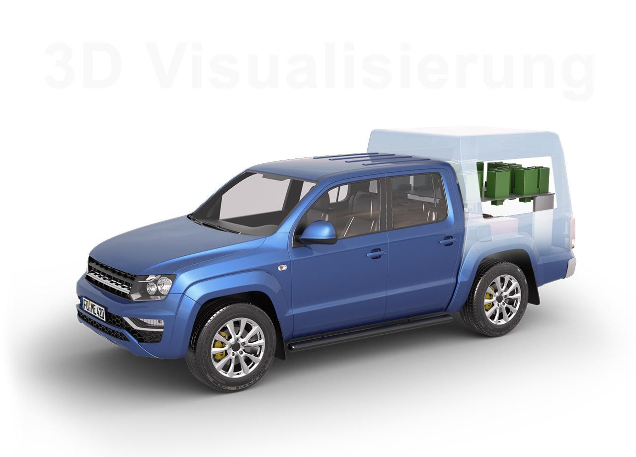 Visual Unlimited 3D Visualisierung Messfahrzeug ME