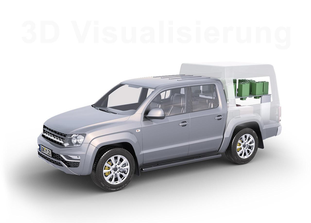 Visual Unlimited 3D Visualisierung Messfahrzeug MTS