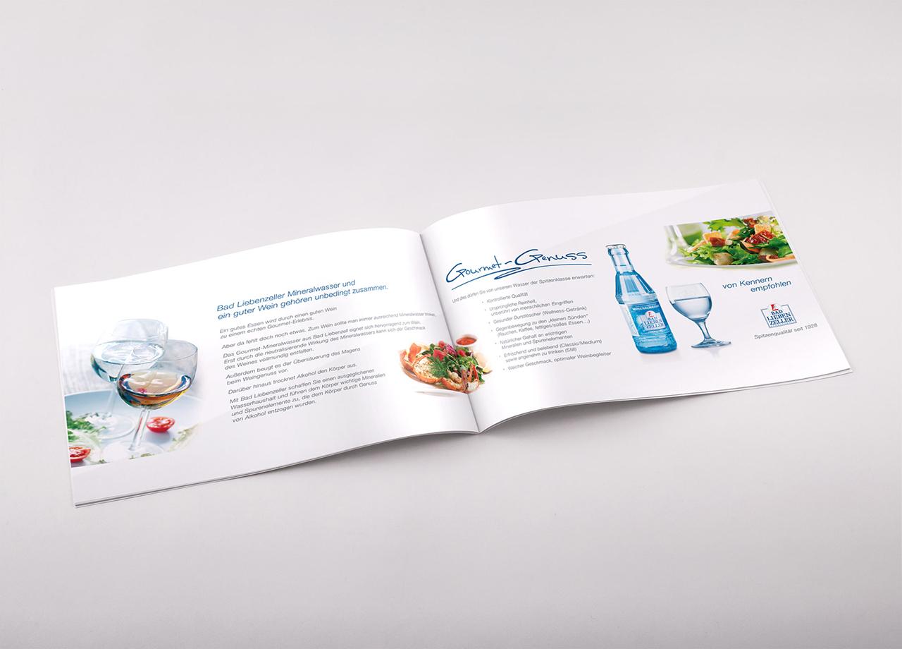 Visual Unlimited Design Bad Liebenzeller Mineralbrunnen Gourmet Genuss Flyer