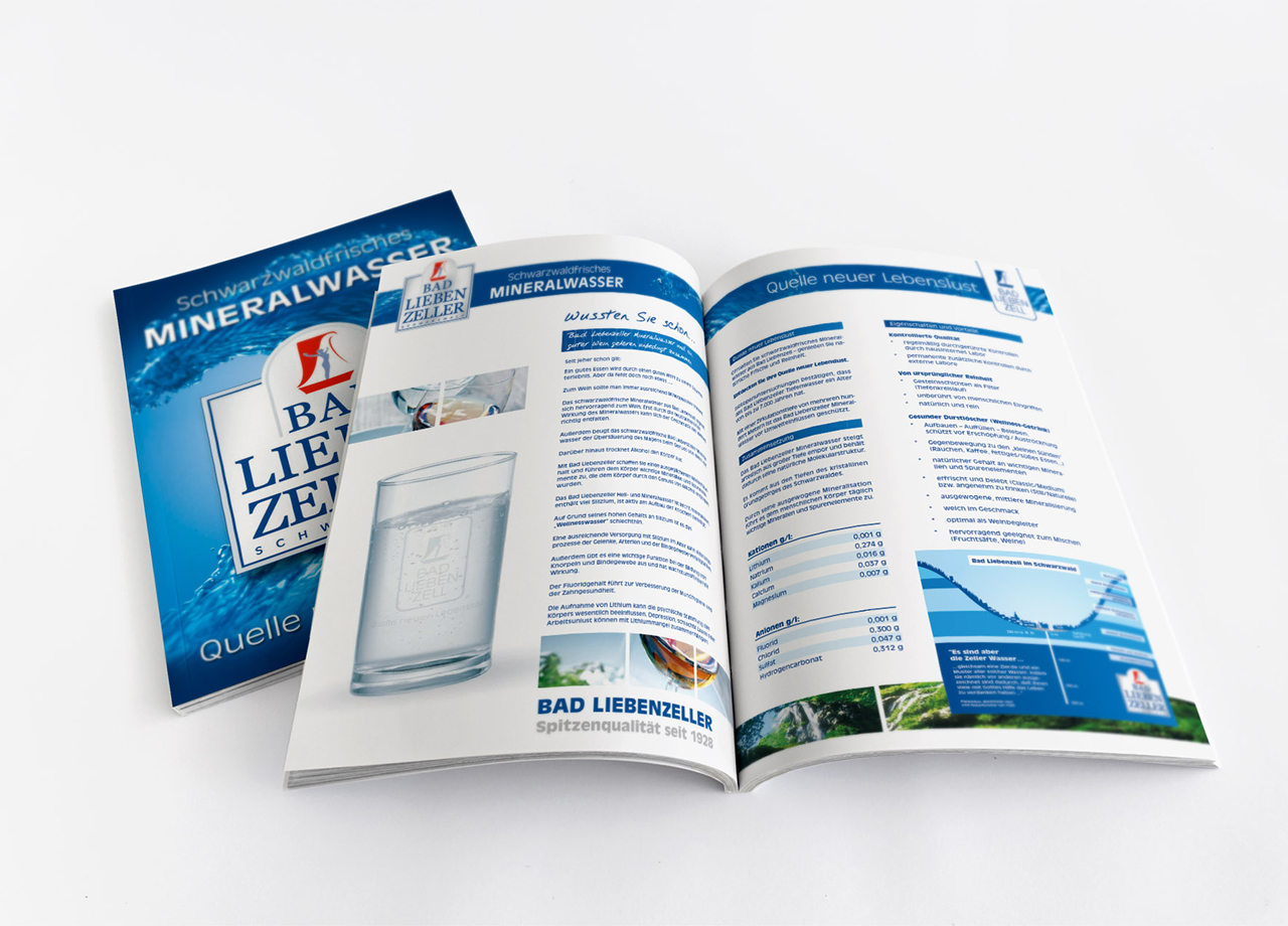 Visual Unlimited Erstellung Bad Liebenzeller Mineralbrunnen Image Broschüre