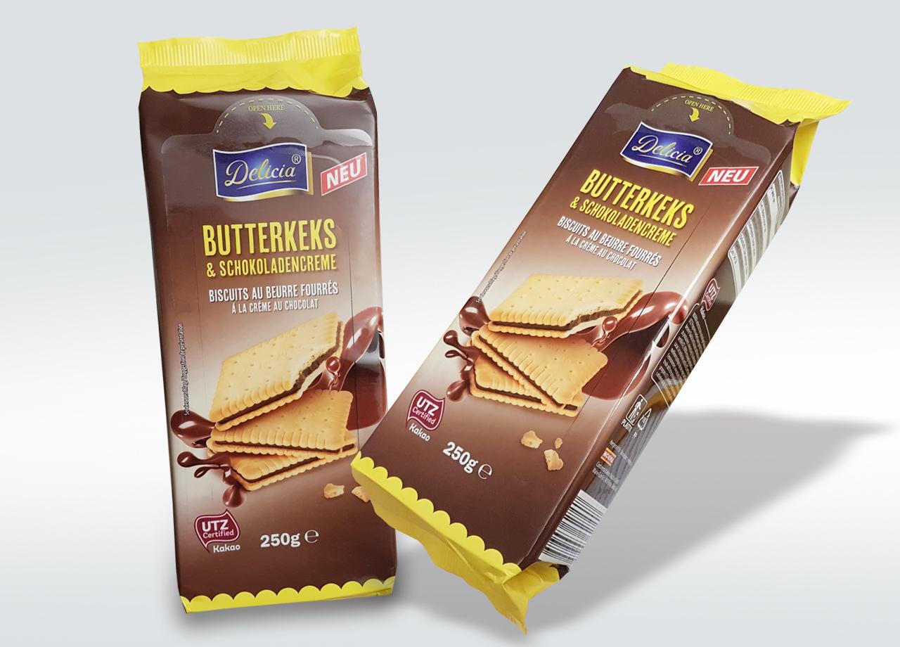 Visual Unlimited NORMA Butterkeks und Schokoladencreme finale Verpackung