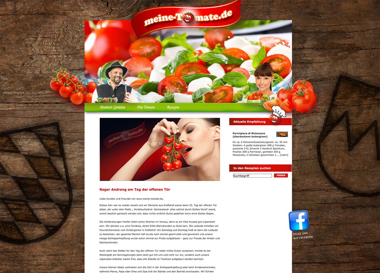 Meinert Gemüse meine-tomate.de Internetseite