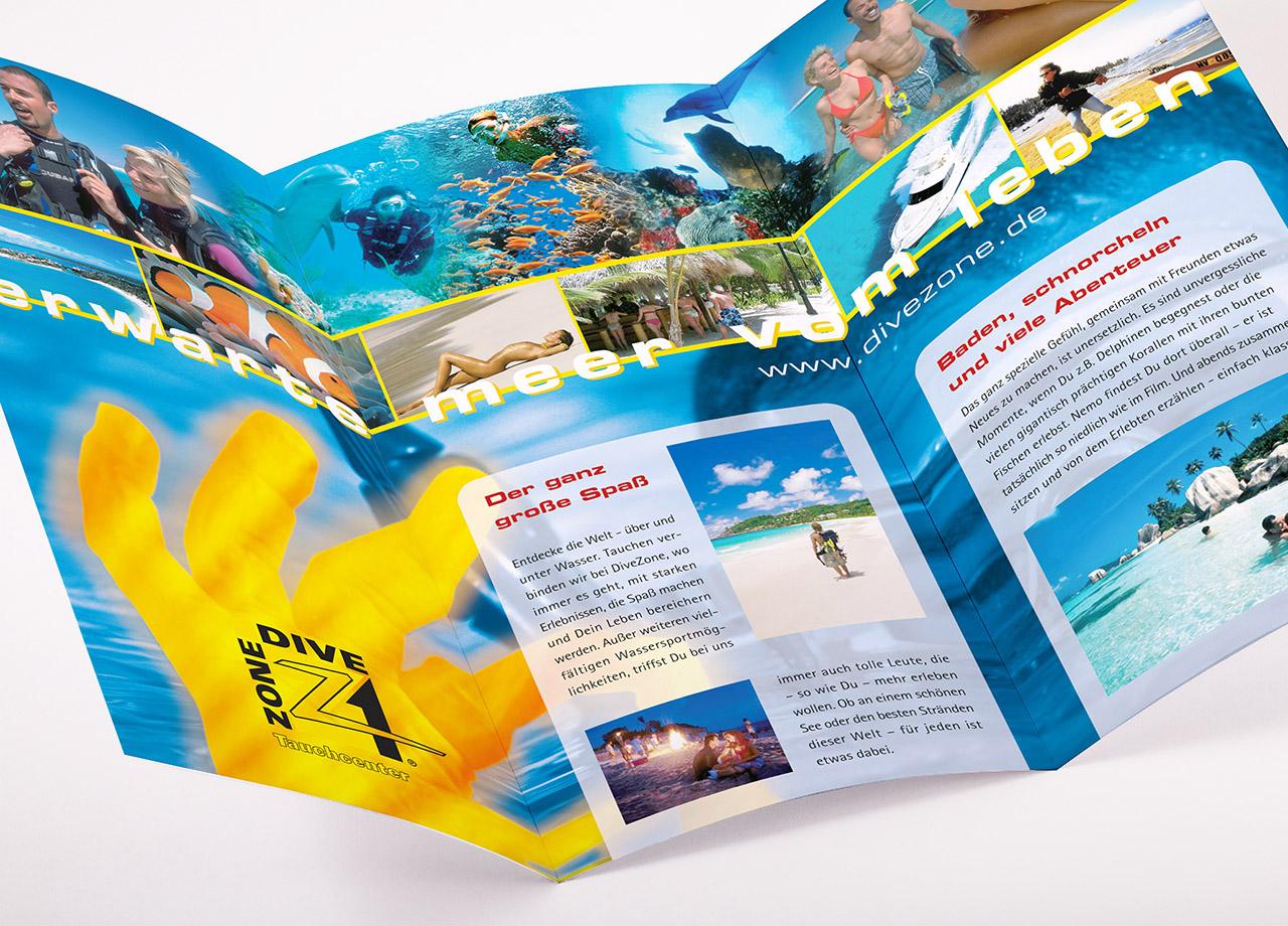Visual Unlimited Divezone DIN lang Flyer